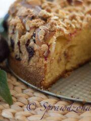 Ciasto drozdzowe ze sliwkami