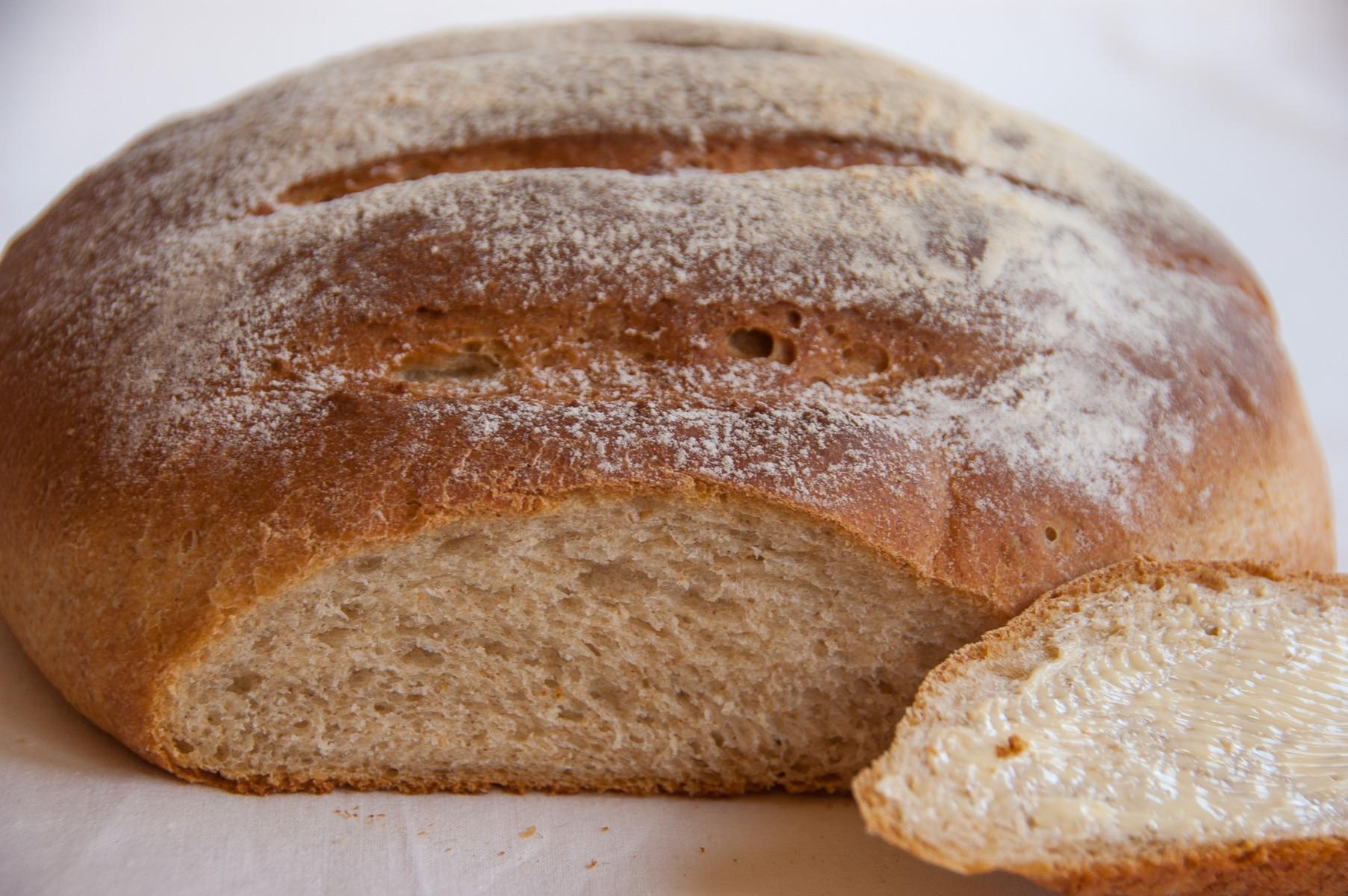 Babciny chleb pszenny ukrojona kromka