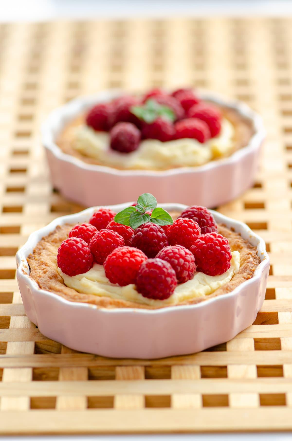 Tartaletki z malinami i mascarpone