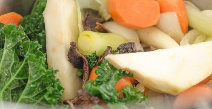 Bulion warzywny, przyrumieniony