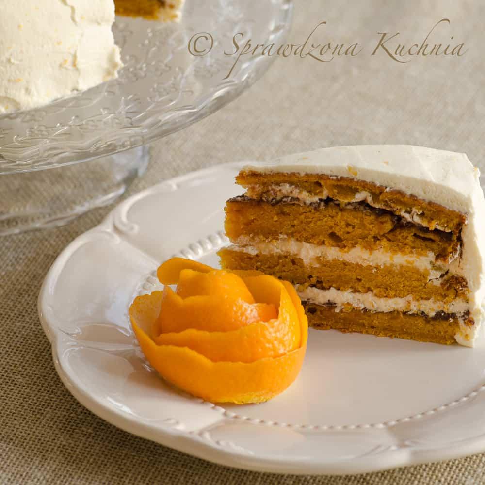 ciasto dyniowe z kremem pomarańczowym