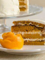 ciasto z dyni z kremem pomarańczowym