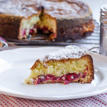 ciasto z zurawinami