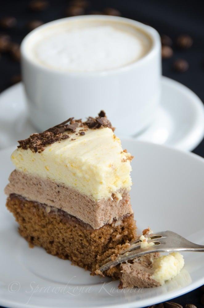 Tort z musem kawowo czekoladowym