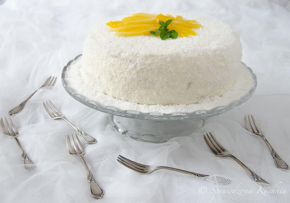 tort z mango i kremem kokosowym