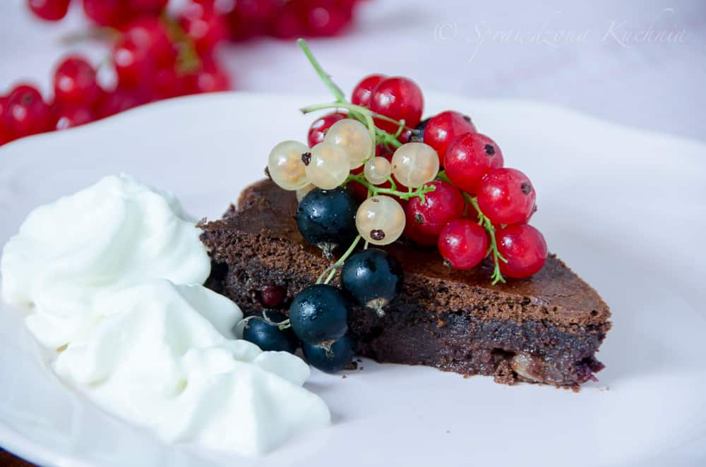 brownie z porzeczkami