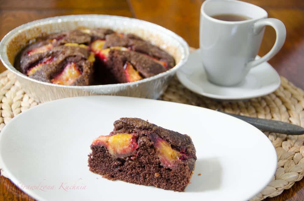 ciasto czekoladowe ze sliwkami