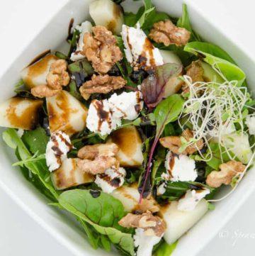 salatka z melonem i kozim serem
