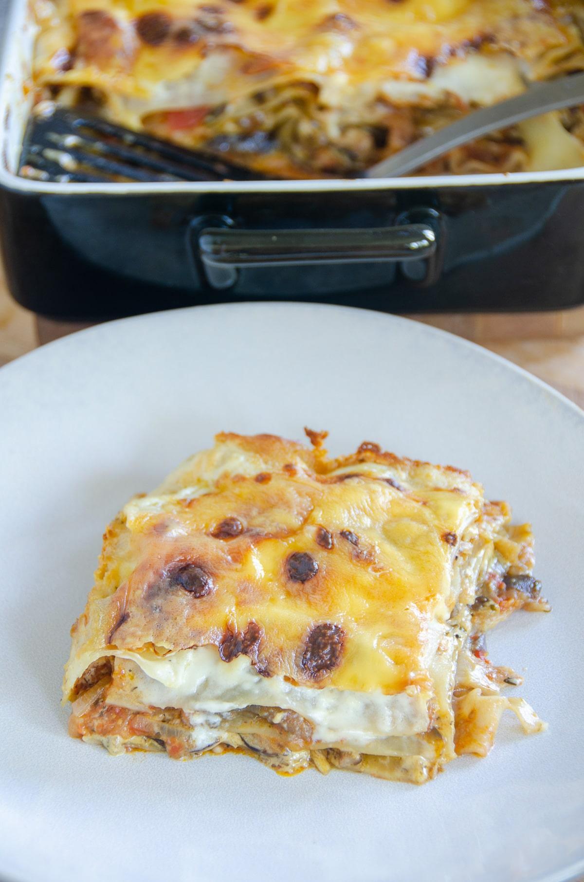 lasagne z grzybami