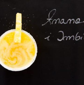 sok ananasowo-imbirowy