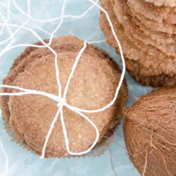 Chrupiace ciasteczka kokosowe