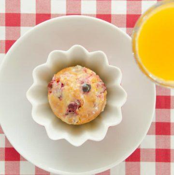 Muffiny zurawinowo - pomaranczowe