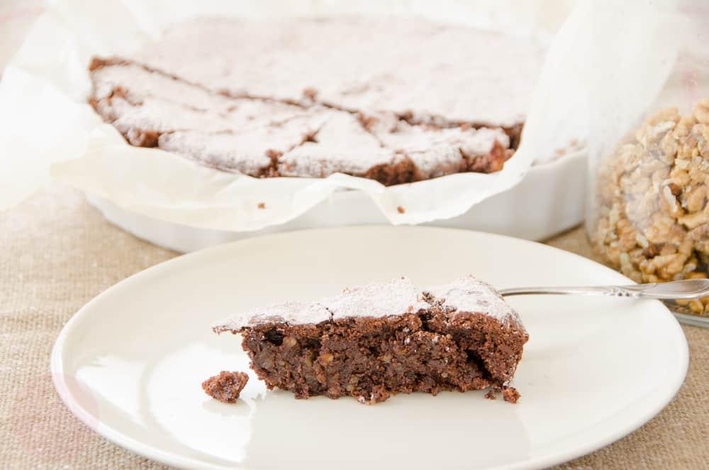 ciasto czekoladowo - orzechowe