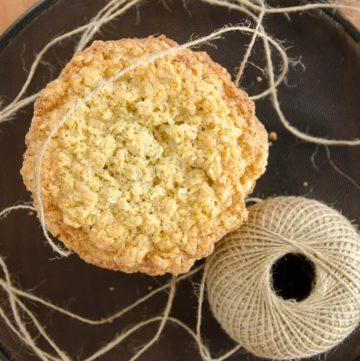 ciastka owsiane z kokosem