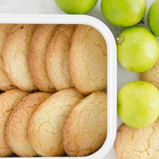Ciastka limonkowo – cukrowe