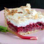 Tarta malinowo - rabarbarowa
