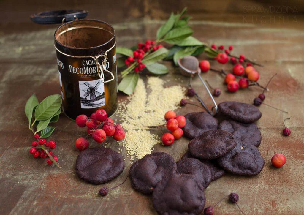 czekoladowe ciastka jaglane