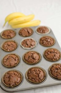 muffiny bananowo czekoladowe