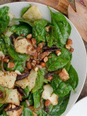 salatka ze szpinaku