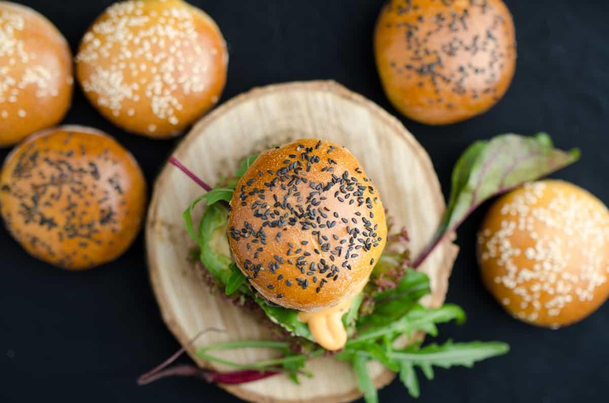 burgery z czarnej fasoli