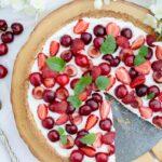 Tarta czereśnie i truskawki