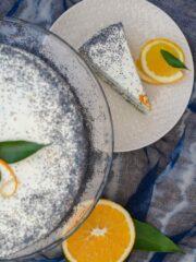 tort makowo pomaranczowy