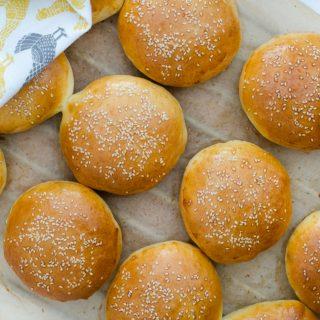 Bułki hamburgerowe z zakwasem
