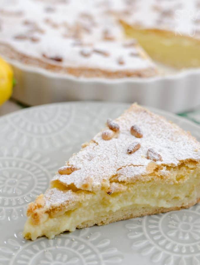 Torta della Nonna kruche ciasto cytrynowe