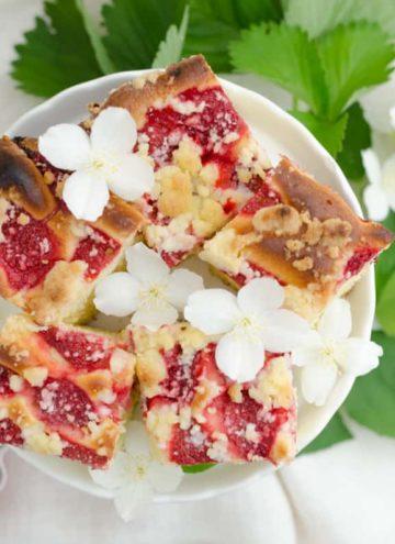 ciasto drozdzowe z truskawkami