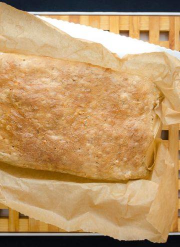 Chleb pszenny z płatkami owsianymi