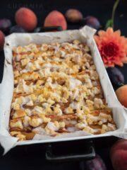 ciasto brzoskwiniowo-sliwkowe