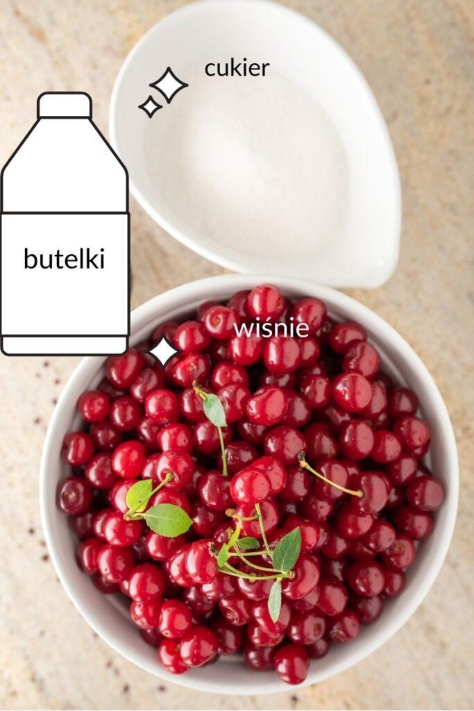 składniki na sok z wiśni