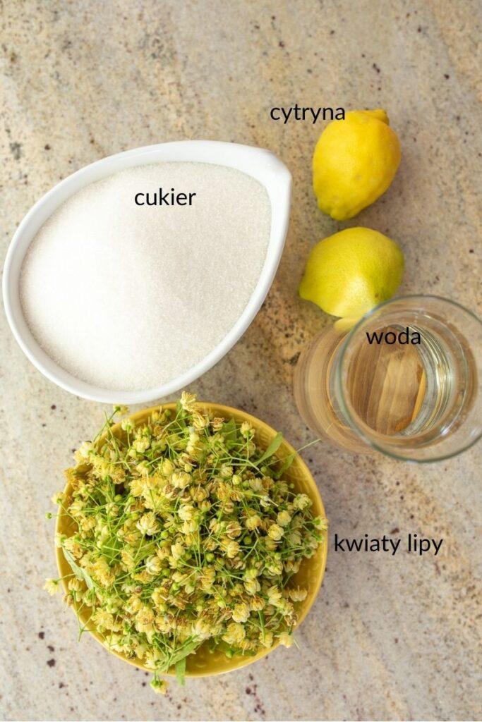 składniki na syrop z kwiatów lipy